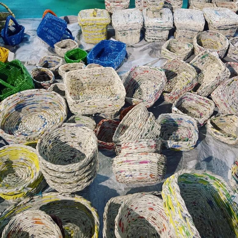News Paper Baskets
