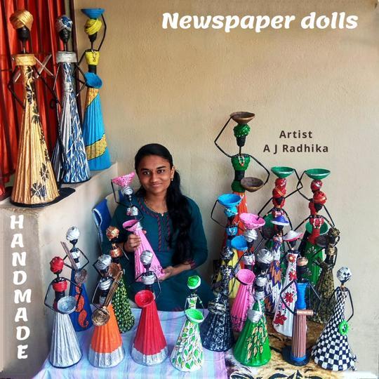 Newspaper dolls
