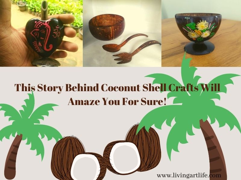 coconut shell craft images