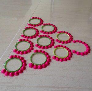 rangoli using bangles